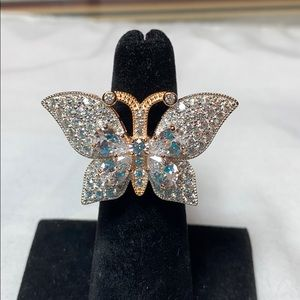 Bella Luce White Diamond Simulant Butterfly Ring